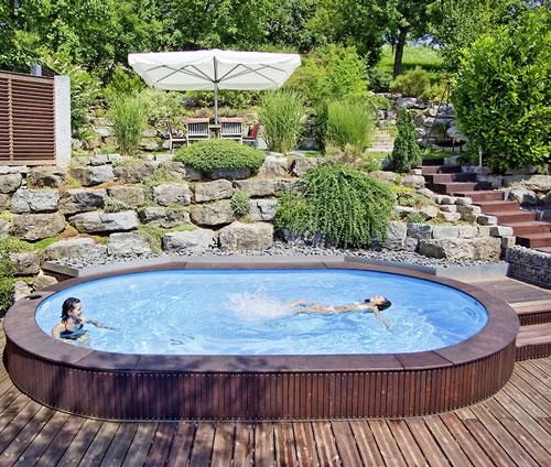 Oval Schwimmbecken Komplett Angebot LAGO SB Einbau Schwimmbecken 500 X 300  Cm   Tiefe 120 Cm